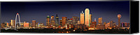 Margaret Canvas Prints - Dallas Skyline at Dusk  Canvas Print by Jon Holiday