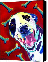 Dog Art Canvas Prints - Dalmatian - Yum Canvas Print by Alicia VanNoy Call