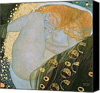 Signature Canvas Prints - Danae Canvas Print by Gustav Klimt