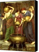Pouring Painting Canvas Prints - Danaides Canvas Print by John William Waterhouse