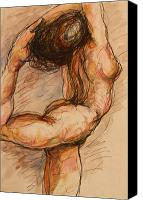 Female Nude Canvas Prints - Dance after Rodin Canvas Print by Dan Earle