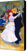 Bougival Canvas Prints - Dance At Bougival after Renoir Canvas Print by Rodney Campbell