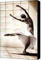 Dancer Painting Canvas Prints - Dance Finesse Canvas Print by Richard Young