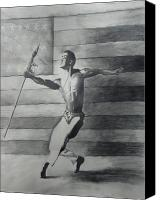 African American Art Drawings Canvas Prints - Dance for Freedom Canvas Print by Stacy V McClain