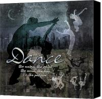 Dancing Digital Art Canvas Prints - Dance neutral colors Canvas Print by Evie Cook