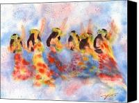 Dancer Art Canvas Prints - Dance Of Paradise Canvas Print by John Yato