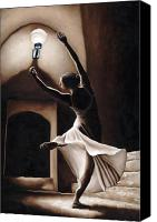 Brown Painting Canvas Prints - Dance Seclusion Canvas Print by Richard Young
