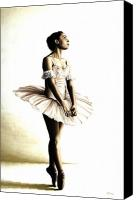 Dancer Painting Canvas Prints - Dancer at Peace Canvas Print by Richard Young