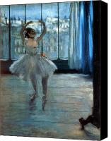 Impressionist Canvas Prints - Dancer in Front of a Window Canvas Print by Edgar Degas