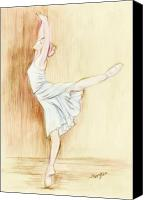 Dance Canvas Prints - Dancer Canvas Print by Morgan Fitzsimons
