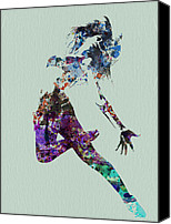 Man Painting Canvas Prints - Dancer watercolor Canvas Print by Irina  March