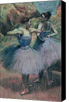 Girls Pastels Canvas Prints - Dancers in Violet  Canvas Print by Edgar Degas