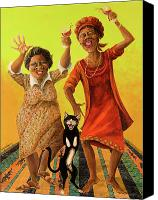 African American Canvas Prints - Dancin Cause its Tuesday Canvas Print by Shelly Wilkerson