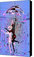 Dancing Digital Art Canvas Prints - Dancing in the Rain Canvas Print by Tony Marquez