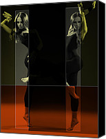 Dancing Digital Art Canvas Prints - Dancing Mirrors Canvas Print by Irina  March
