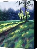 Forest Pastels Canvas Prints - Dancing Shadows Canvas Print by Christine Kane