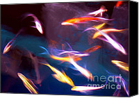 Judi Bagwell Canvas Prints - Dancing with Koi Canvas Print by Judi Bagwell