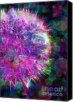 Judi Bagwell Canvas Prints - Dandelion Party Canvas Print by Judi Bagwell