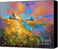 Dandelions Canvas Prints - Dandelion Wine Canvas Print by Anastasija Kraineva