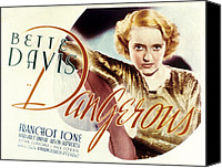 1935 Movies Canvas Prints - Dangerous, Bette Davis, 1935 Canvas Print by Everett