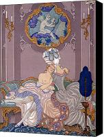 Nudes Canvas Prints - Dangerous Liaisons Canvas Print by Georges Barbier