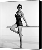1950s Movies Canvas Prints - Dangerous When Wet, Esther Williams Canvas Print by Everett