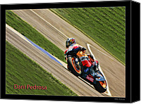 Motogp Canvas Prints - Dani Pedrosa Canvas Print by Blake Richards