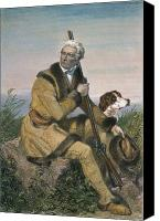 Buckskin Canvas Prints - Daniel Boone (1734-1820) Canvas Print by Granger