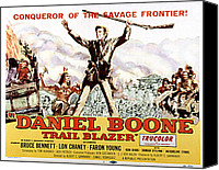 1956 Movies Canvas Prints - Daniel Boone, Trail Blazer, Bruce Canvas Print by Everett