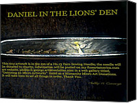 Microscopic Art Sculpture Canvas Prints - Daniel In The Lions Den  Canvas Print by Phillip H George