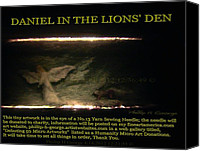 Microscopic Art Sculpture Canvas Prints - Daniel In The Loins Den Info Photo No.2  Canvas Print by Phillip H George
