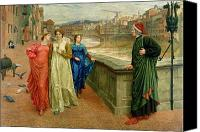 1884 Canvas Prints - Dante and Beatrice Canvas Print by Henry Holiday