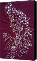 Embroidery Tapestries - Textiles Canvas Prints - Dare to be Different V Canvas Print by Kruti Shah