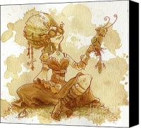 Women Canvas Prints - Darjeeling Canvas Print by Brian Kesinger