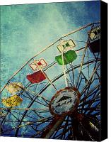 Color Canvas Prints - Dark Carnival Canvas Print by Leah Moore