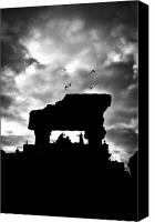 Stomr Canvas Prints - Dark clouds over the city - 2 Canvas Print by Mirko Chessari