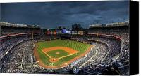 Ny Canvas Prints - Dark Clouds over Yankee Stadium  Canvas Print by Shawn Everhart