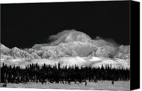 Denali Canvas Prints - Dark Contrast Mnt McKinley  Canvas Print by Ed Boudreau