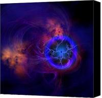 Solar Rings Canvas Prints - Dark Matter Canvas Print by Corey Ford