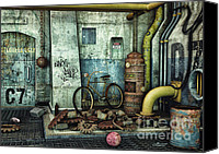 Junk Canvas Prints - Dark Places Tell Stories Canvas Print by Jutta Maria Pusl
