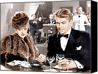 Black Tie Canvas Prints - Dark Victory, From Left Bette Davis Canvas Print by Everett
