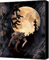 Halloween Digital Art Canvas Prints - Darkenwarg Canvas Print by Mandem