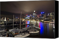 Sydney Skyline Canvas Prints - Darling Harbor Sydney Skyline 2 Canvas Print by Douglas Barnard