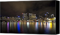 Sydney Skyline Canvas Prints - Darling Harbor Sydney Skyline Canvas Print by Douglas Barnard