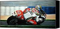 Motogp Canvas Prints - Daryl Beattie - Suzuki MotoGP Canvas Print by Jeff Taylor
