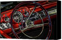 1957 bel air canvas prints   dashboard lights canvas print by charlie prenzi