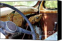 Old Things Canvas Prints - Dashboard Canvas Print by Pauline Ross