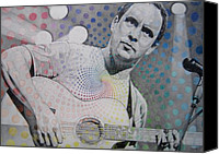 Singer Drawings Canvas Prints - Dave Matthews All the Colors Mix Together Canvas Print by Joshua Morton