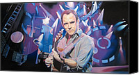 Singer Drawings Canvas Prints - Dave Matthews and 2007 Lights Canvas Print by Joshua Morton