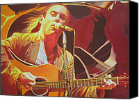 Singer Painting Canvas Prints - Dave matthews at Vegoose Canvas Print by Joshua Morton